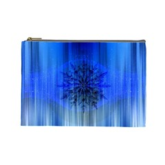 Background Christmas Star Cosmetic Bag (large)  by Nexatart