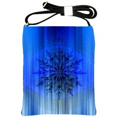 Background Christmas Star Shoulder Sling Bags by Nexatart