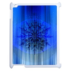 Background Christmas Star Apple Ipad 2 Case (white) by Nexatart