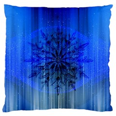 Background Christmas Star Large Cushion Case (two Sides)