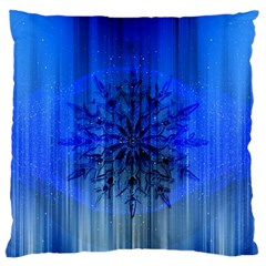 Background Christmas Star Large Flano Cushion Case (two Sides) by Nexatart