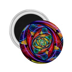 Eye Of The Rainbow 2 25  Magnets by WolfepawFractals