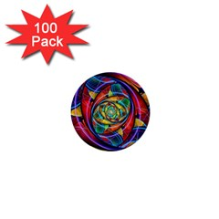 Eye Of The Rainbow 1  Mini Buttons (100 Pack)  by WolfepawFractals