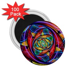 Eye Of The Rainbow 2 25  Magnets (100 Pack)  by WolfepawFractals