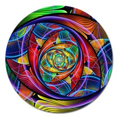 Eye Of The Rainbow Magnet 5  (round) by WolfepawFractals