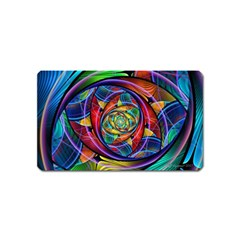 Eye Of The Rainbow Magnet (name Card) by WolfepawFractals