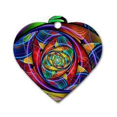 Eye Of The Rainbow Dog Tag Heart (two Sides) by WolfepawFractals