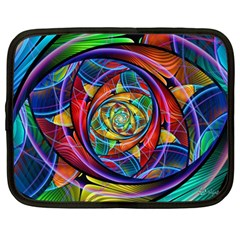 Eye Of The Rainbow Netbook Case (large) by WolfepawFractals