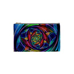 Eye Of The Rainbow Cosmetic Bag (small)  by WolfepawFractals