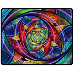 Eye Of The Rainbow Fleece Blanket (medium)  by WolfepawFractals