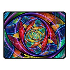 Eye Of The Rainbow Fleece Blanket (small) by WolfepawFractals
