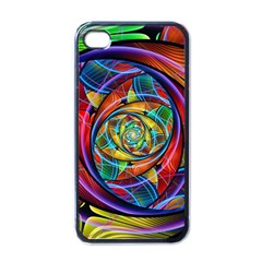 Eye Of The Rainbow Apple Iphone 4 Case (black) by WolfepawFractals