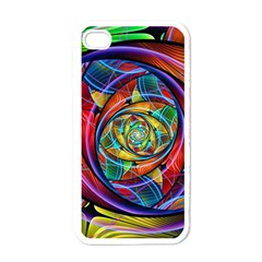 Eye Of The Rainbow Apple Iphone 4 Case (white) by WolfepawFractals