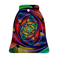 Eye Of The Rainbow Bell Ornament (two Sides) by WolfepawFractals