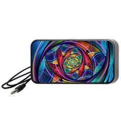 Eye Of The Rainbow Portable Speaker (black) by WolfepawFractals