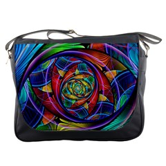 Eye Of The Rainbow Messenger Bags by WolfepawFractals