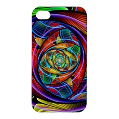 Eye Of The Rainbow Apple Iphone 4/4s Premium Hardshell Case by WolfepawFractals