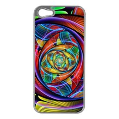 Eye Of The Rainbow Apple Iphone 5 Case (silver) by WolfepawFractals