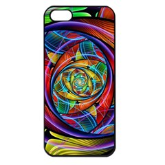 Eye Of The Rainbow Apple Iphone 5 Seamless Case (black) by WolfepawFractals