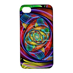 Eye Of The Rainbow Apple Iphone 4/4s Hardshell Case With Stand by WolfepawFractals