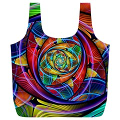 Eye Of The Rainbow Full Print Recycle Bags (l)  by WolfepawFractals