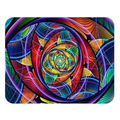 Eye Of The Rainbow Double Sided Flano Blanket (large)  by WolfepawFractals