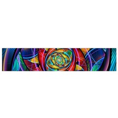 Eye Of The Rainbow Flano Scarf (small) by WolfepawFractals