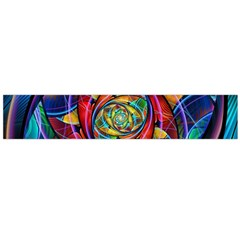 Eye Of The Rainbow Flano Scarf (large) by WolfepawFractals
