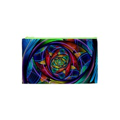 Eye Of The Rainbow Cosmetic Bag (xs) by WolfepawFractals