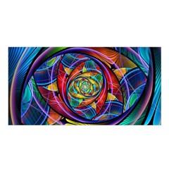 Eye Of The Rainbow Satin Shawl by WolfepawFractals