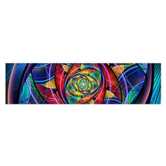 Eye Of The Rainbow Satin Scarf (oblong) by WolfepawFractals