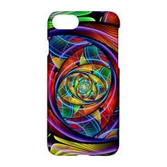 Eye Of The Rainbow Apple Iphone 7 Hardshell Case by WolfepawFractals