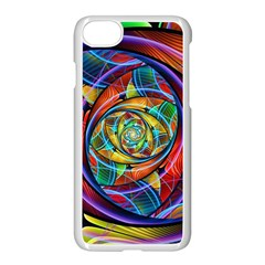Eye Of The Rainbow Apple Iphone 7 Seamless Case (white) by WolfepawFractals