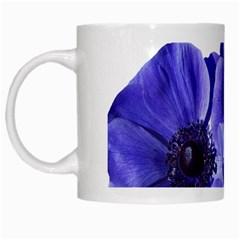 Poppy Blossom Bloom Summer White Mugs