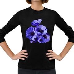 Poppy Blossom Bloom Summer Women s Long Sleeve Dark T Shirts