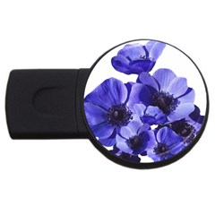 Poppy Blossom Bloom Summer Usb Flash Drive Round (4 Gb)
