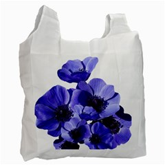 Poppy Blossom Bloom Summer Recycle Bag (one Side)