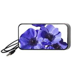 Poppy Blossom Bloom Summer Portable Speaker (black)