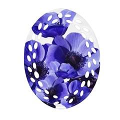 Poppy Blossom Bloom Summer Ornament (oval Filigree)