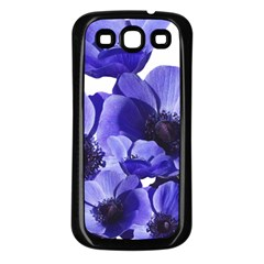 Poppy Blossom Bloom Summer Samsung Galaxy S3 Back Case (black)