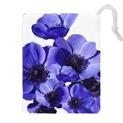 Poppy Blossom Bloom Summer Drawstring Pouches (xxl) by Nexatart