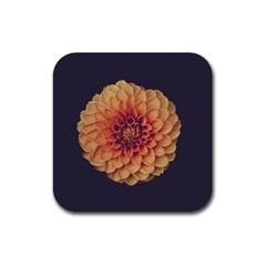 Art Beautiful Bloom Blossom Bright Rubber Square Coaster (4 Pack)