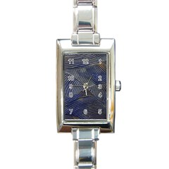 Textures Sea Blue Water Ocean Rectangle Italian Charm Watch