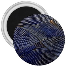 Textures Sea Blue Water Ocean 3  Magnets by Nexatart
