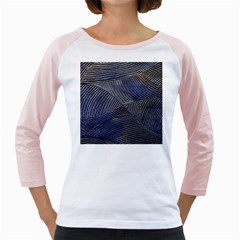 Textures Sea Blue Water Ocean Girly Raglans