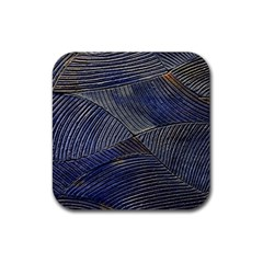 Textures Sea Blue Water Ocean Rubber Square Coaster (4 Pack)  by Nexatart