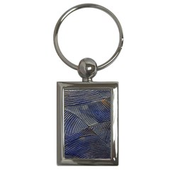 Textures Sea Blue Water Ocean Key Chains (rectangle)
