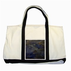 Textures Sea Blue Water Ocean Two Tone Tote Bag
