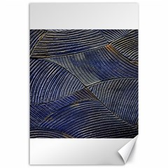 Textures Sea Blue Water Ocean Canvas 24  X 36