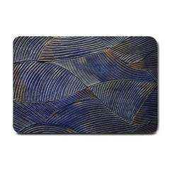 Textures Sea Blue Water Ocean Small Doormat  by Nexatart